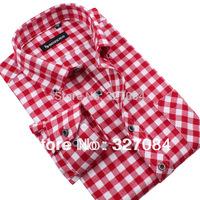 [MG33] 2015 Men's Brand Shirts Fashion Plaid Shirt Long Sleeve High Quality Low Price Large Size S-4XL Free Shipping