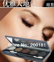 Color5#  5-color bob delicate eye shadow pearlizing wet powder eye shadow smoked makeup bare makeup eye shadow box brush