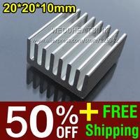 50% OFF + Free Shipping 2,000pcs 20*20*10mm 1W 3W 5W LED Power Heatsink Fans & Cooling Heat Sink Cheap Wholesales Price
