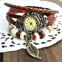 Free Drop shipping Bracelet Watch Women Cow Leather Watches 2013 New Fashion Quartz Roman Vintage Dress Wristwatch Relojes
