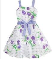 Free shipping kids plaid dress baby grils dress princess dress flower fashion baby dress