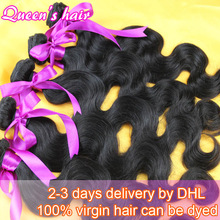 100% unprocessed Brazilian virgin Queen human hair weave products body wave Grade 5A remy weft free shipping on sale 3pcs lot(China (Mainland))