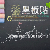 Free Shipping Chalkboard Wall Stickers Kids Room Vinyl Wall Decal Home Decor Stickers with 5 Free Chalks 45x200cm E2013050