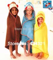 Best selling children towels bath 100% cotton baby beach towel baby brand animal bath towel kids towelling cape/cloak bathrobe