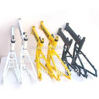 """HUMMER Folding Bike frame 15"""" Folding Bike frame for 20"""" Wheel aluminum Folding Bike frame Green Yellow White 20""""x15"""" 20x 16"""""""