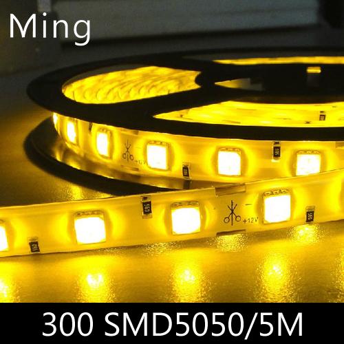 LED strip light ribbon single color or RGB 5 meters 300 pcs SMD 5050 IP20 non waterproof DC 12V(China (Mainland))