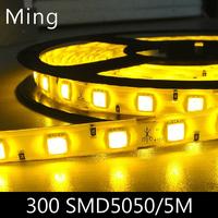 LED strip light ribbon single color  or RGB 5 meters 300 pcs SMD 5050  IP20 non waterproof  DC 12V
