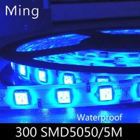 LED strip light ribbon single color or RGB  5 meters 300 pcs SMD 5050 IP65 waterproof  DC 12V