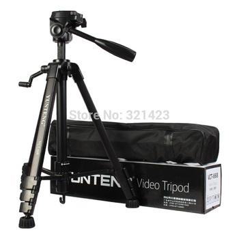 Новый штативы гибкая верблюд штатив для камеры VCT668 профессиональный штатив с демпфирования глава жидкости Pan для SLR / DSLR + сумка