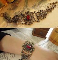 0989 Free shipping vintage hollow flower opening Bangle fashion jewlery Bracelet  for women