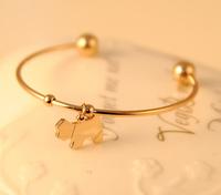 JD 5097 Free shipping New Coming dog opening Bangle fashion animal jewlery Bracelet  for women