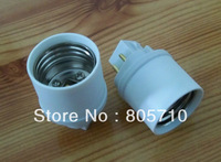 GX24q-1/2/3 to E26/E27, G24q-1/2/3 to E26/E27, 4PIN, Lamp base converter, E26/E27 Lamp Holder to GX24q/G24q Lamp Base,50pcs/lot
