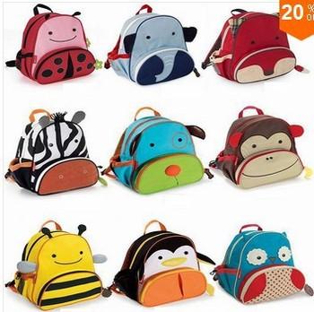 Hot sale 2~6Age children backpack 2013 brand kids cartoon bag fashion schoolbag kindergarten bag
