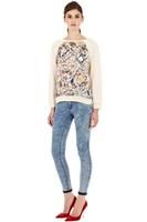Women Paisley Prints Sweater Lady Casual Knitwear KW7091-K03