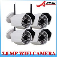 4PCS 1080P 2MP Megapixel HD Onvif  Wireless 48IR Surveilance Security IP Network  CCTV Camera