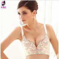 Sexy cotton push up bra 32 34 36 38 A B C cup women's body shaping bra print adjustable push up bra underwear brassiere intimate