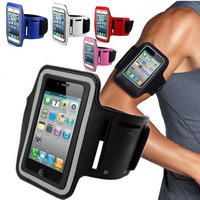 Waterproof Sport Gym Running Armband Arm Strap Case Holder for iPhone 5 5S  4 4S  Flexible Adjustable Tune Belt Drop Ship !