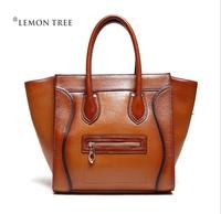 NEW 2014 desigual women handbag genuine leather bags women leather handbags smiley vintage handbag totes shoulder bags bolsas