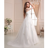 Sexy ivory chantilly lace plus size wedding dresses with short transparent sleeves