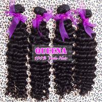 "malaysian virgin hair deep curly virgin hair 3pcs lot,cheap unprocessed human hair weave,Queena hair products Grade 5A 8"" to 30"""