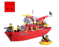 Enlighten Multi-Function Fire Ship NO.909 Building Blocks Sets 359pcs Educational DIY Construction Bricks toys for children
