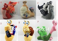 Plush Turbo snail toys Theo White shadow Burn Smoove move Whiplash Cartoon Snail Christmas gifts 6 models mix 24pcs/lot