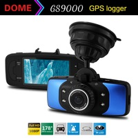 "Cheap Car DVR GS9000 Full HD 1080P 30fps 2.7""LTPS DVR With GPS G-sensor H.264 Car Black Box Vehicle Recorder DVR Blue"