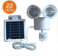 22 LED Motion Sensor Security Flood Solar Light White Color Body free shipping
