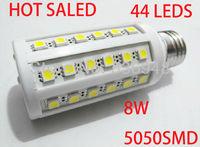 8W 5050 SMD 44leds LED Corn Bulb Light E27 LED Lamp High Power Cool White /Warm White 220V 5pcs/lot