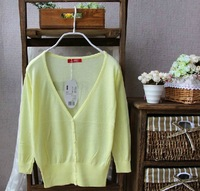 2013 fashion Free shipping ZA Women Sweet Candy Color Crochet Knit Blouse Sweater Cardigan