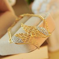 P 1306 Free shipping Unique hollow crystal bracelets exquisite women's bracelets wings bangles