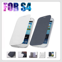 Wholesale For samsung galaxy I9500 S4 High quality as Battery Flip Leather case Cover