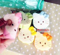 New 5.5cm Kawaii Phone Chain Lanyard Squishies Bread  Bag Charm Wholesale Free Shipping Hello Kitty Rare Squishy Toast