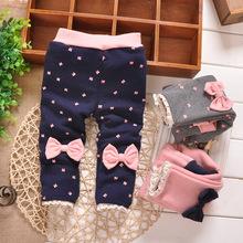 Versandkosten frei baby mädchen leggings, kinder baumwolle plus aus samt winter legging hose, baby hosen, retail#y1429(China (Mainland))