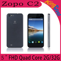 "Free Shipping ZOPO C2 Platinum 2GB RAM 32GB ROM Smart Phone MTK6589T Quad Core Smartphone Android 4.2 5.0"" 3G"
