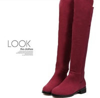 Women's Boots,2013 Autumn New fashion ladies sexy Knee high boots,high-leg zipper long boots,Big Size,Free shipping size  5/10.5