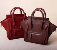 15 Colors! Crossbody Shoulder Tote Bag New Women Luxury Classic Designer Inspired Celebrity Leather Smile Face Smiley Handbag