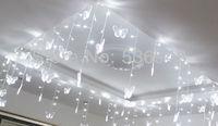 Multi-color Butterfly LED String Strip Festival Holiday  curtain icicle Light 3.5m 100SMD 220V EUPlug , Xmas Weding,Doration