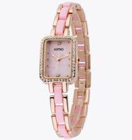2013 New Women Female Ladies Quartz Fashion Square Rhinestone Diamond Decoration Bracelet Watch Chain Table Wristwatch