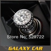 Hot seal!Free shipping senior diamond cigarette lighter car 2 color
