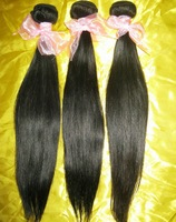 "New Arrival 6A Peruvian virgin Straight hair weave wefts 3pcs/lot(12""-30""),African American hair blend well, fast shipping!!"