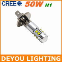 Best selling  Free shipping CREE XBD 50W H1 LED Fog Light  12V 24V car DRL light lamp bulb car lighting  1year warranty