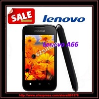 original Lenovo A66 android smartphone 3.5inch mtk6575 android 2.3 256MB RAM GPS WIFI 3G camera multi language Cell phone / Anna