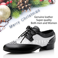 Men athletic shoes genuine leather  soft Ballroom Modern latin dance shoes ,flat heel men latin dance shoes