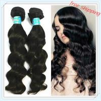 "(3pcs/lot) Mixed length 100% Grade 5A Brazilian Virgin Hair Extensions  Human Hair Weft Loose Wave 12""-30""--unprocessed hair"