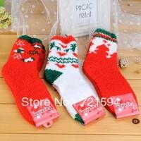 Autumn And Winter To Thicken The Plush Christmas Stocks Hosiery For Coral Fleece Socks/Towel/Floor Gift Socks