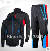 Newest winter thermal cycling sets fleece windproof cycling long sleeve jersey bicycle clothing cycling jacket thermal bib pants