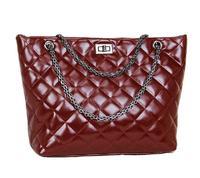2014 fashion plaid bags one shoulder handbag genuine leather handbag women's vintage women's bag cowhide