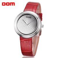 ladies watch women wristwatches  Dom     leather   casual quartz        dress watches relogio feminino reloj mujer montre femme