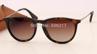 100% uv new original men women fashion brand name sunglass rb erika polarized sunglasses 4171 865/13 tortoise brown gradient